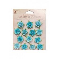 FLORES Mini rosas turquesas
