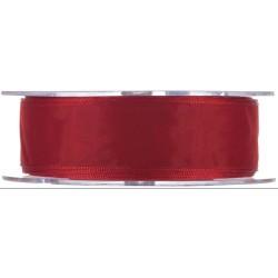 CINTA ORGANZA 25mm Rojo (1...