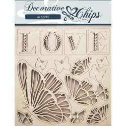 DECORATIVE CHIPS Love...