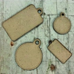 TIERRA Pack Tags madera by...