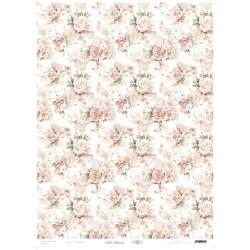 PAPEL CARTONAJE Rosas rosa...